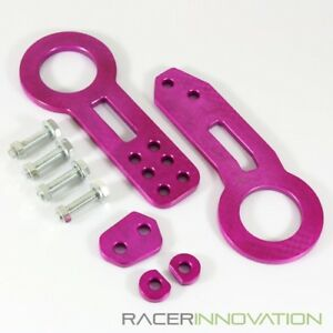 Front Rear Tow Hook Billet Cnc Aluminum Towing Kit Jdm Racing Anodized Purple