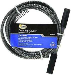 Drain Auger Cable Plumbing Replacement Cleaner 50 Ft 3 8 Snake Clog Pipe Sewer