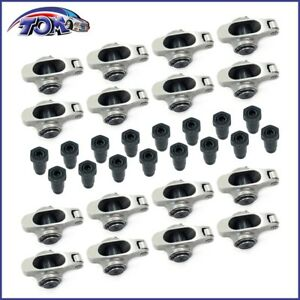 New Stainless Steel Roller Rockers Arms 1 5 Ratio 7 16 For Small Block Chevy