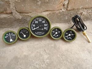 Willys Mb Jeep Ford Gpw Gauges Kit Speedometer Temp Oil Fuel Ampere Olive