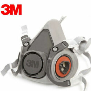 5pc 3m 6200 Reusable Respirator Painting Spraying Half Face gas Mask