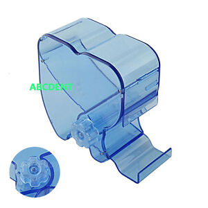 5 Dental Dentist Cotton Roll Dispenser Holder Case Rotary Type See through Blue