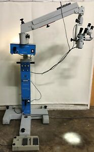 Zeiss Opmi 6 s Surgical Microscope On Stativ S3 Universal Stand With Footswitch