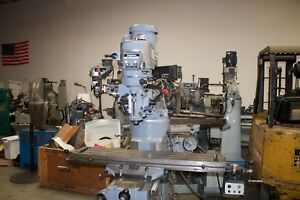 Bridgeport 9 X 48 Milling Machine With Digital Read Out And Power Feed
