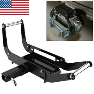 2 Foldable Winch Cradle Mounting Bracket Mount Plate For Truck Trailer Atv 4wd