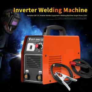 Portable Igbt Dc Inverter Welder Equipment Welding Machine Single Phase 220v Kit
