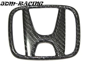 New Rear Trunk H Real Carbon Fiber Emblem For Honda Civic 2016 2017 Sedan