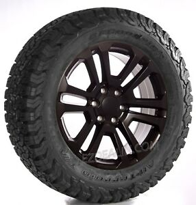 Chevy Silverado 20 Satin Black Split Spoke Wheels Bfg Tires Tahoe Suburban