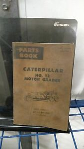 Caterpillar No 12f Motor Grader Parts Manual