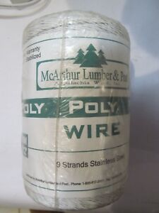 New Mcarthur Lumber Post 9 Metal Ss Strand Electric Fence Poly Wire 400m 1312