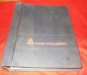 Allis Chalmers 12g Crawler Loader set Of 8 Service Manuals W Binder
