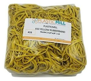 Plasticmill Rubber Bands 33 Size Rubberbands 1lb 600 Count