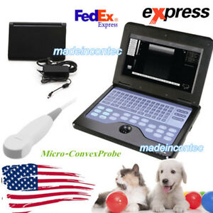 Usa Veterinary Pregnancy Ultrasound Scanner Portable Laptop Machine Cat dog Use