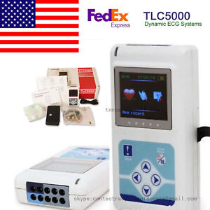 24hours System Analysis Monitor With Software 12 Channels Holter Ecg ekg Tlc5000