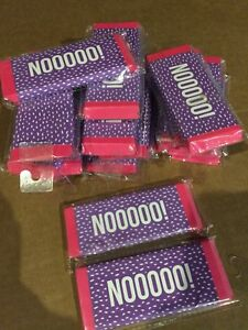 Girls 5 Large Erasers Lot Of 23 Pink purple Noooo 5x2 5 Inch Size New