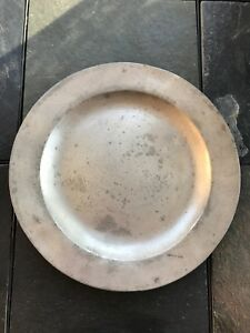 Circa 18th Century Hallmarked Pewter Charger Or Plate