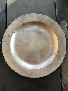 Circa 18th Century Pewter Charger Heavily Hallmarked