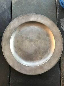 Circa 18th Century Hallmarked Pewter Charger 1780