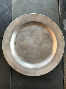 Circa 18th Century Pewter Charger Robert Porteous 1762