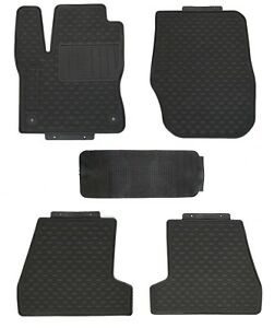 Floor Mats For 2011 Ford Focus Custom Fit Shape Black Rubber All Weather