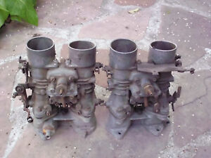 Bmw 2002 Ti Solex 40mm Phh Carburetors Complete With Manifolds And Linkage