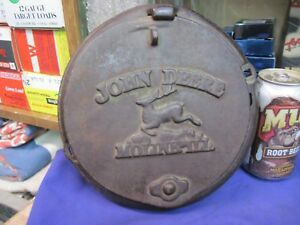 John Deere Moline Horse Drawn Seed Corn Box Planter Lid Cast Iron Cover Original