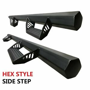 2011 2019 Fit Chevy Silverado Side Steps Nurf Bars Running Board Extended Cab