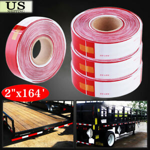 2 x164 Dot c2 Reflective Conspicuity Tape Safety Trailer Truck 6 red 6 White