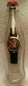 Coca - Cola Watch in Bottle /  Vintage / With Woman On Watch Face