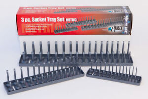 Hansen Global 9302 Socket Tray Set For Metric Sockets Gray Color Made In Usa
