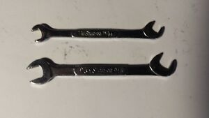 Snap On Lot Of 2 Angle Ignition Wrench Ds1820 Ds1615