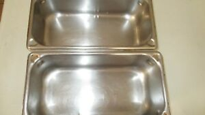 2 Vollrath Super Pan Nfs 18 8 Stainless Steel Steam Table Inserts 4 1 Quarts
