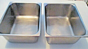 2 11 Quart Pans 12 5 X 10 X 6 Nfs 18 8 Stainless Steel Steam Table Inserts