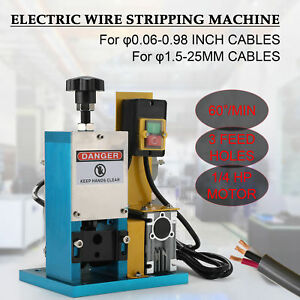 Electric Scrap Cable Stripper Wire Stripping Machine For Scrap Copper Recycling