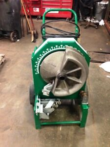 Used Greenlee 555 Conduit Bender W Rigid Shoe Group 1 2 Thru 2