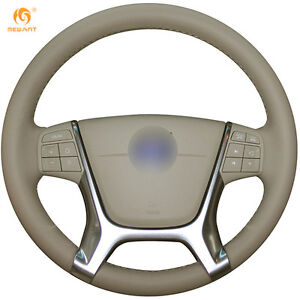 Leather Steering Wheel Cover For Volvo S80 2010 Xc60 2010 2013 Xc70 2011 vl06