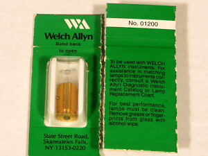 6 Units Genuine Welch Allyn 01200 Bulb 01200 u Replacement Bulbs lamps