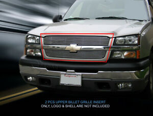 Billet Grille Grill Insert For 2002 2006 Chevy Avalanche 2003 2005 Silverado