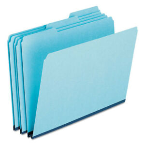 Pendaflex Pressboard Expanding File Folders 1 3 Cut Top Tab Legal Blue 25 bx