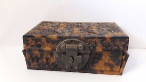 Old Antique Chinese Carved Tortoiseshell Box