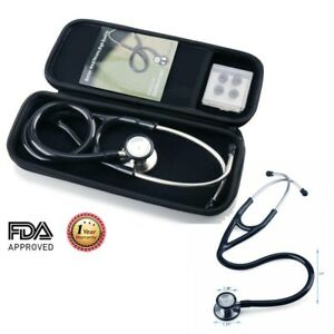 Stethoscope Dual Head W Carrying Case For Adult And Pediatric Latex Free Black