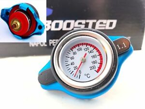Jdm Performance Radiator Cap 1 1 Bar 16 Psi Pressure Rating W Temperature Gauge
