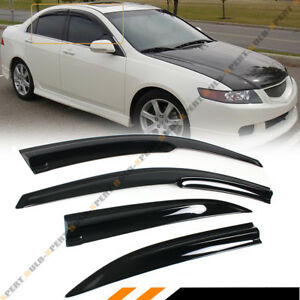For 2004 2008 Acura Tsx Cl8 Euro R Jdm 3d Wavy Window Visor Rain Guard Deflector