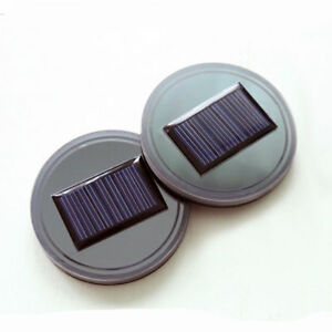 Solar Holder Led Auto Pad Cover Energy Car Light Atmosphere Bottom Power Us Cup