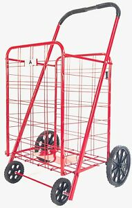 Mobile Laundry Utility Hamper Cart Steel Foldable Shopping Cart With Wheels