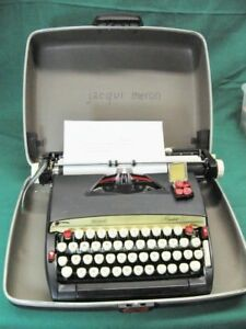 Vintage Sears smith Corona President 12 Typewriter With Case Extremely Clean