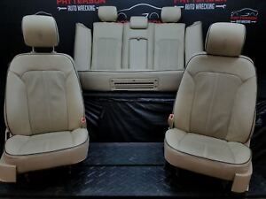 2011 Lincoln Mkz Front Rear Tan Leather Bucket Seats Trim Code Ms
