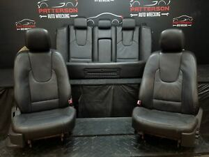 2010 Ford Fusion Set Of Left Right Front Rear Leather Seats Black Fw