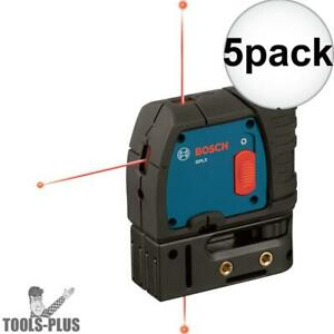 Bosch Gpl3 5x 3 point Self leveling Alignment Laser New