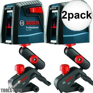 Bosch Gll30 30 Self leveling Cross line Laser 2x New
